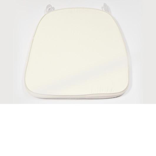 Ivory Poly-Twill Cushion