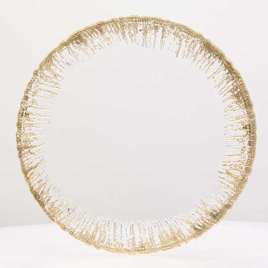 Gold dripping plate - Charger Plate