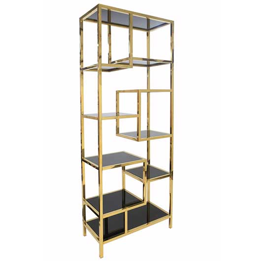 gold shelving unit - VF
