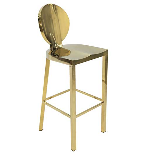 Gold Dorsia Bar Stool
