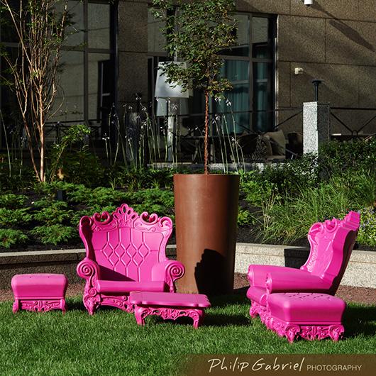 Magenta Romeo Chair