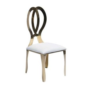 Gold Monarch Chairs - White Cushion