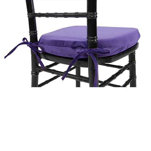 Purple Velvet Chiavari Cushion