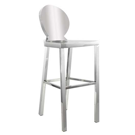 silver chrome bar stool -