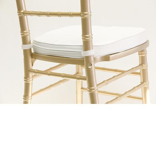 White Poly-Twill Cushion