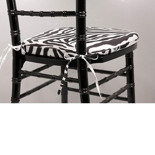 Zebra Chiavari Cushion