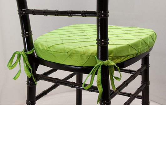 Lime Pintuck Chiavari Cushion