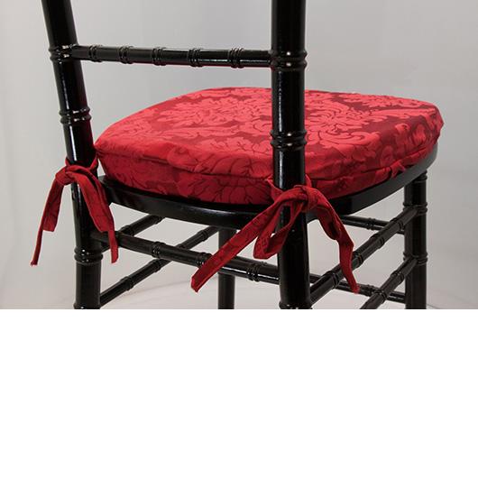 Crimson Damask Chiavari Cushion