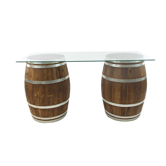 Glass Top Vineyard Table