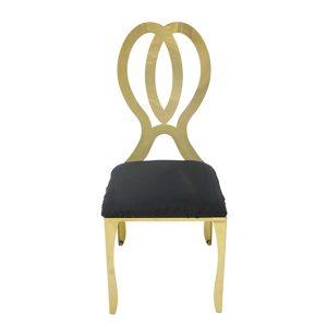Gold Monarch Chair - Black Cushion