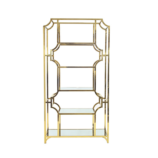 Gold Regency Bar Back display Case
