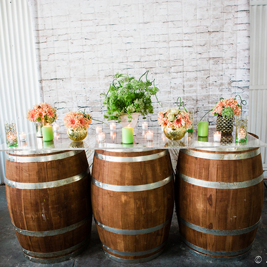 Wine Barrel Table Clear Top