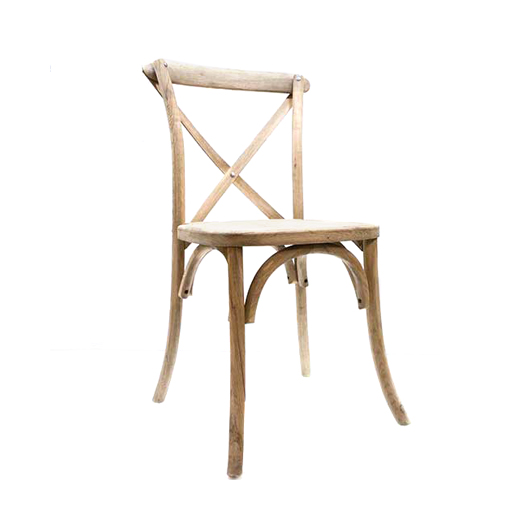 Natural Cross Back Chair