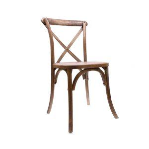 Walnut Cross Back Chair