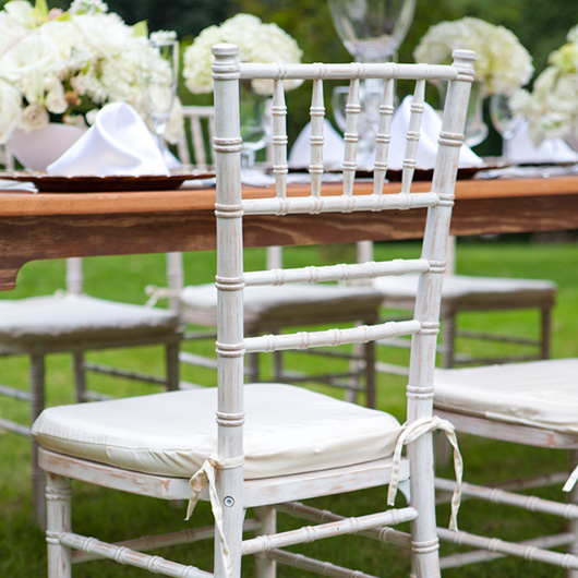 Whitewash Chiavari Bar Stool