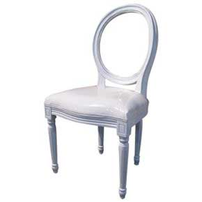 White Louis Chair