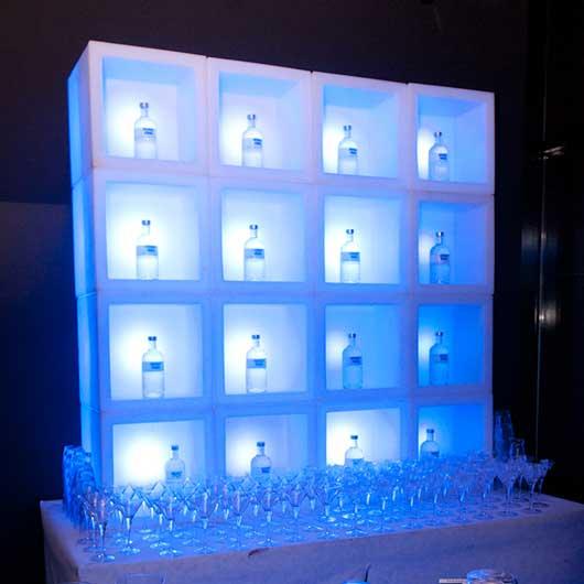 LED Cube Bar Back