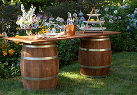 Vineyard Barrel Table