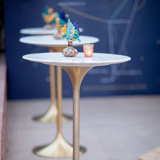 High Tulip Table - Marble Top | Brass