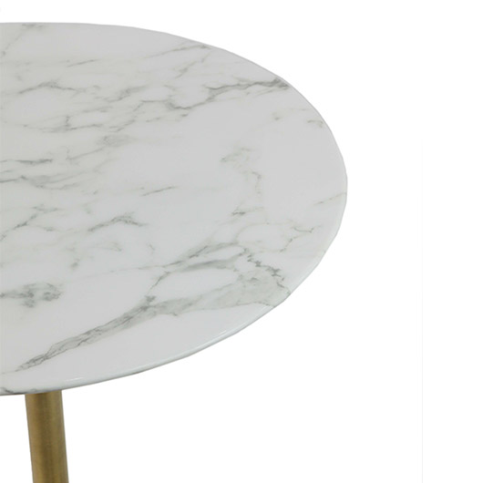 Low Tulip Table - Marble Top | Brass
