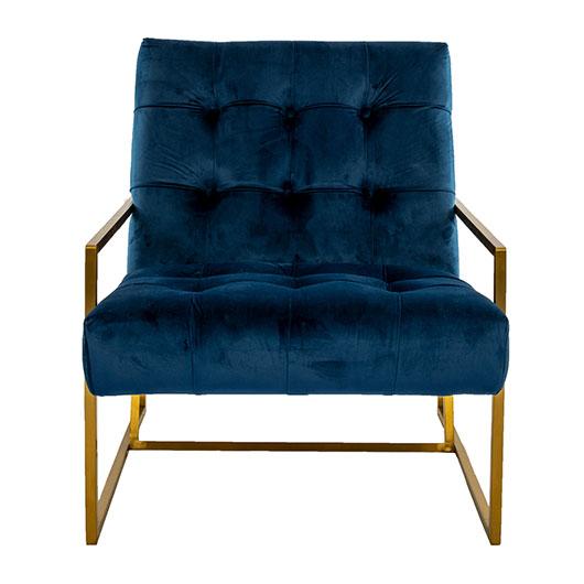 Maurice Side Chair - Blue Sapphire