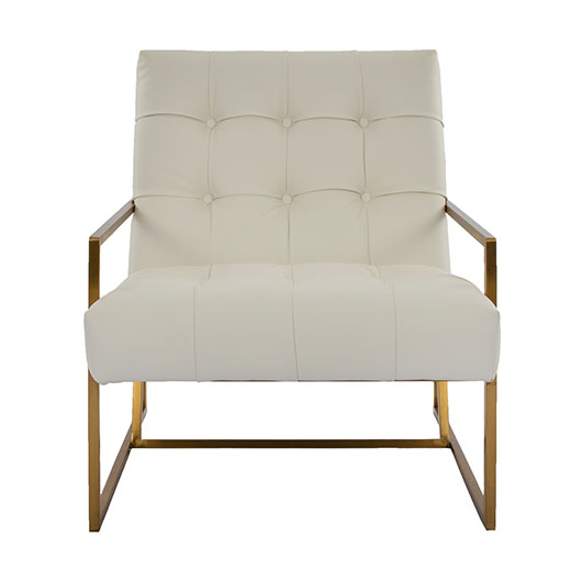 Maurice Side Chair - White Leatherette