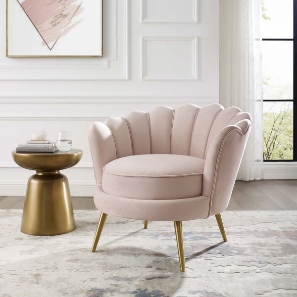 Elaine Chair - Blush Pink
