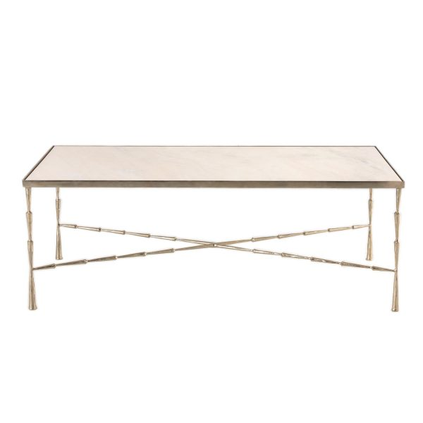 Delancey Marble Coffee Table - Nickel