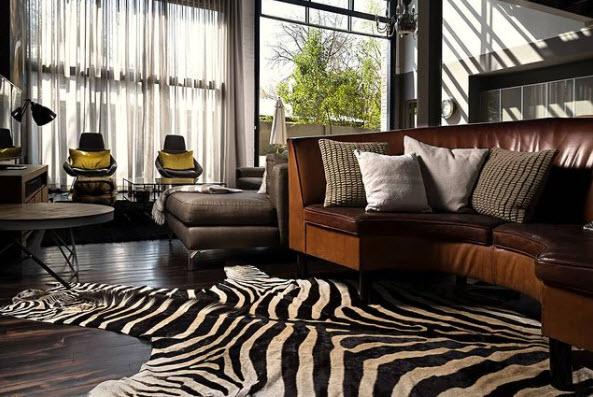 Zebra Rug 9x6