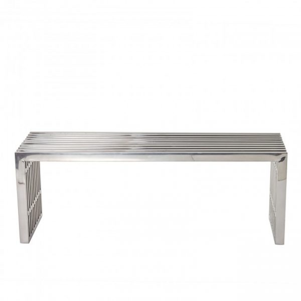 Modernist Bench - Silver