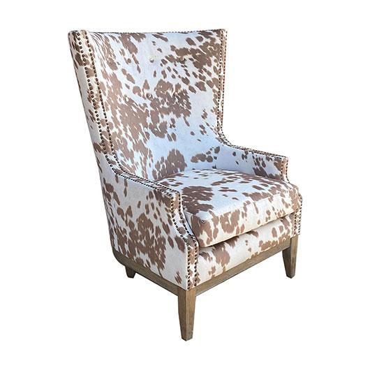 Cow Print Wingback Chair